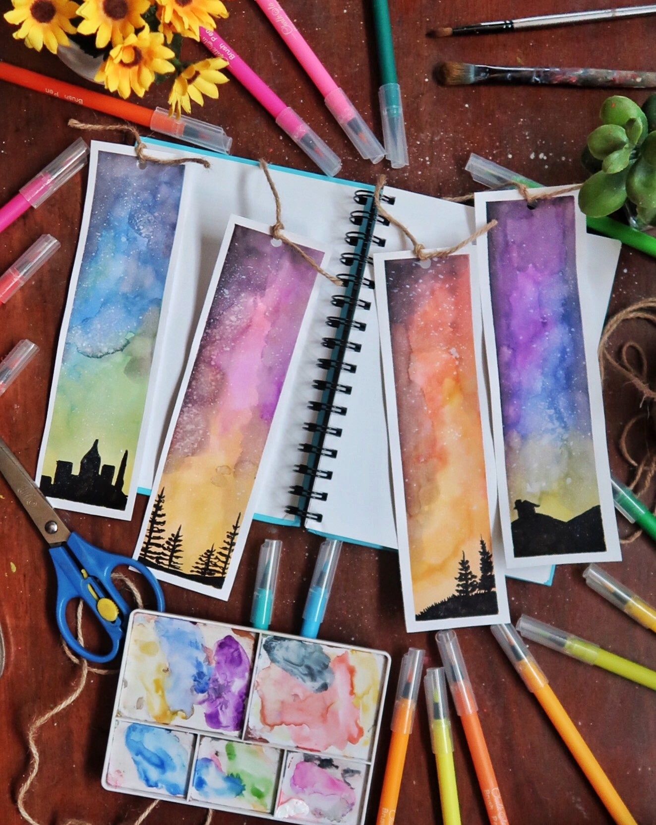 Skyscape Watercolor Painting 10