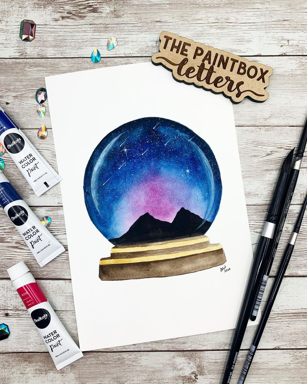 Skyscape Watercolor Painting 5