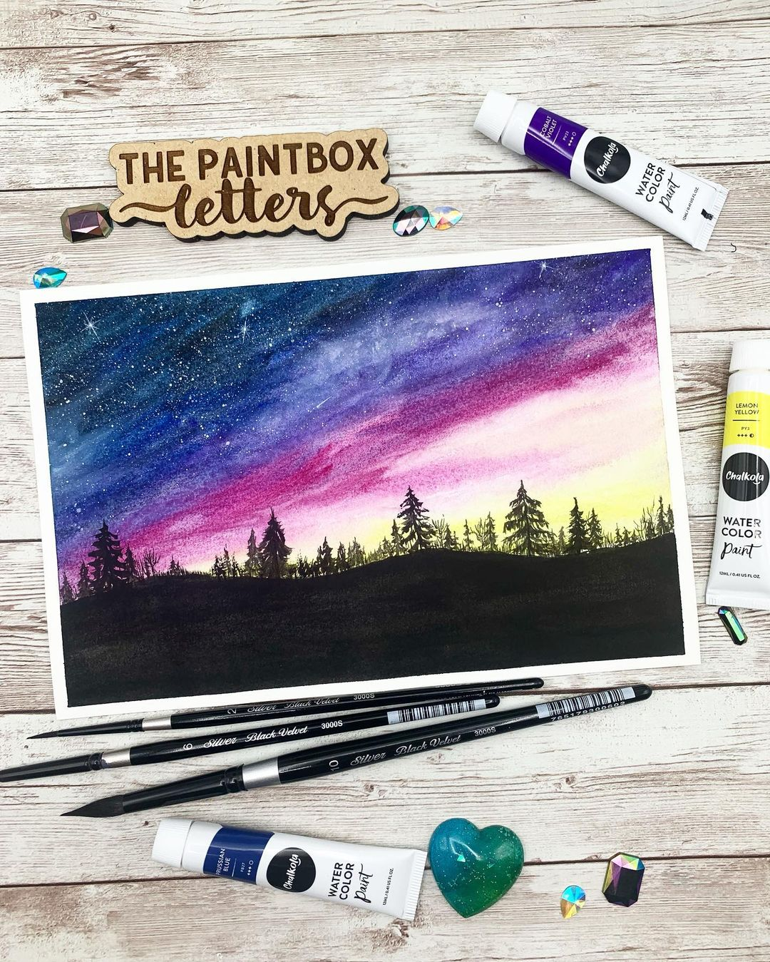 Skyscape Watercolor Painting 7