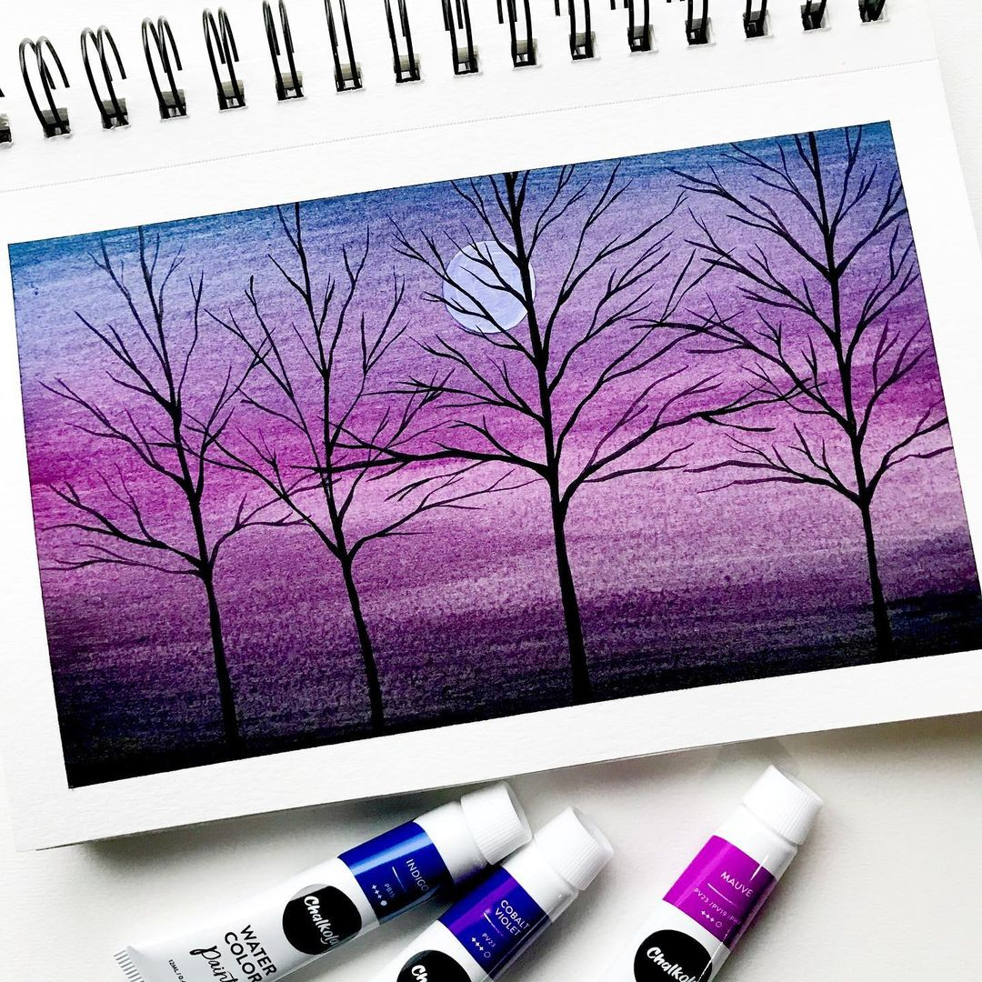 Skyscape Watercolor Painting 8