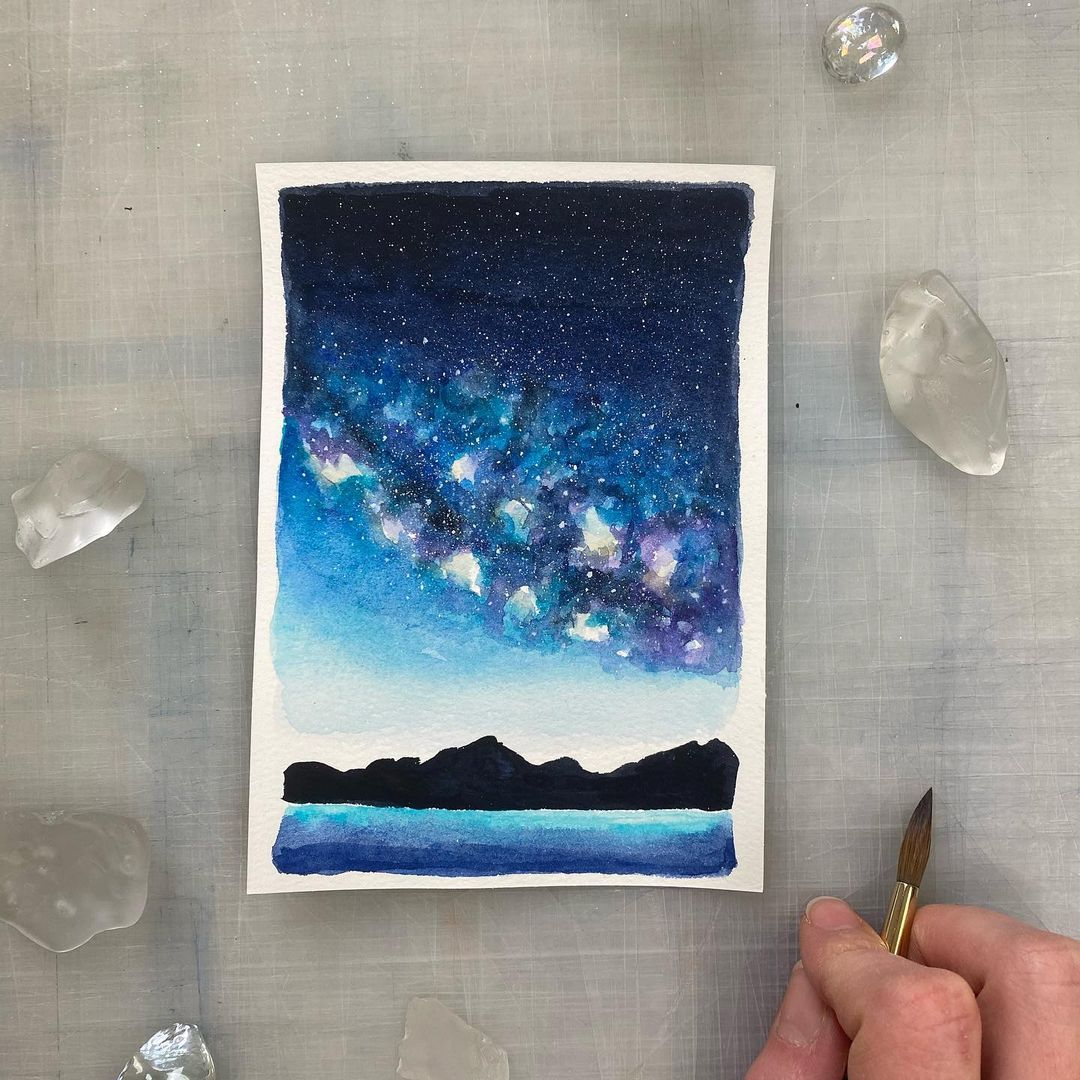 Skyscape Watercolor Painting 9