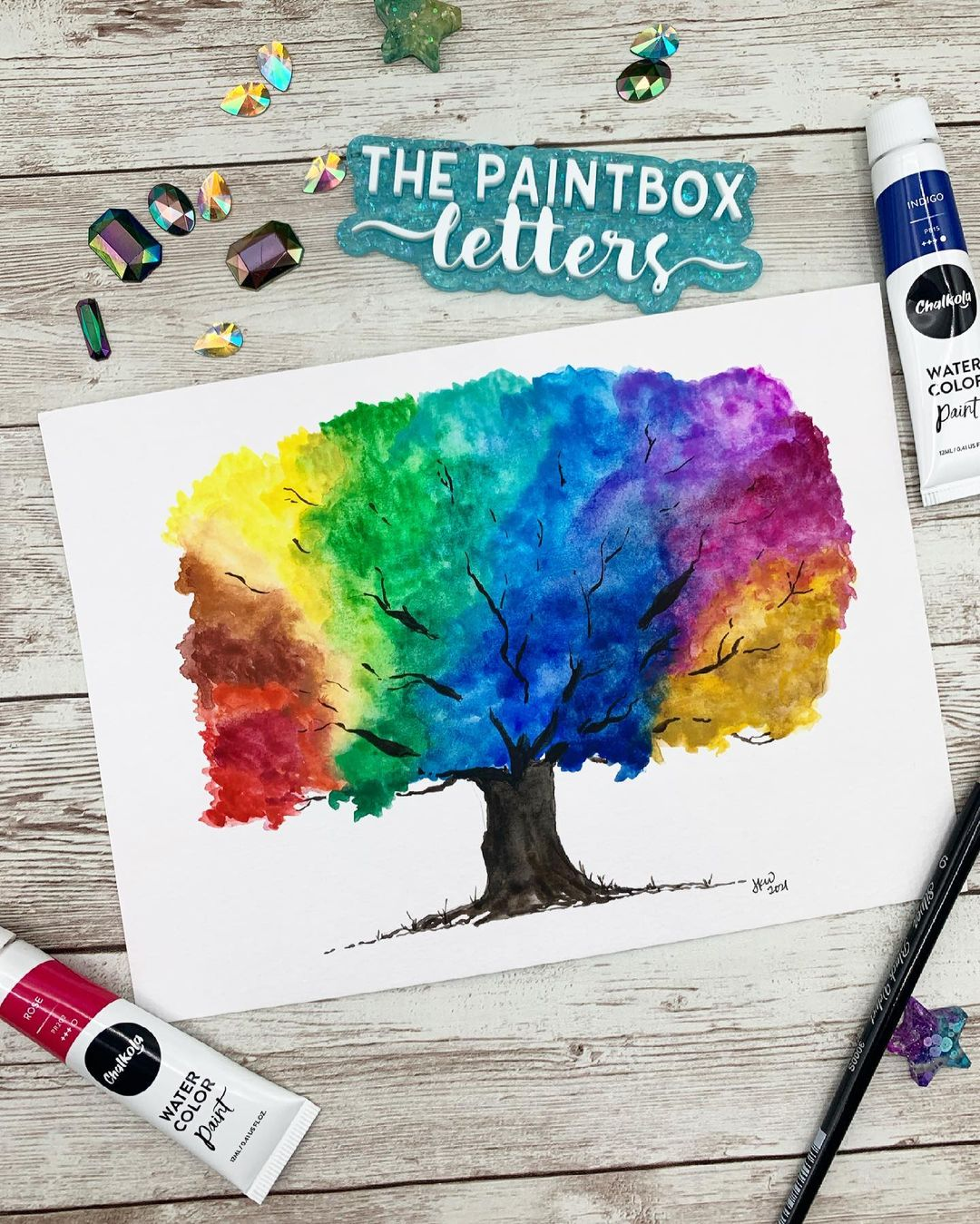 Tree Watercolor Painting 1