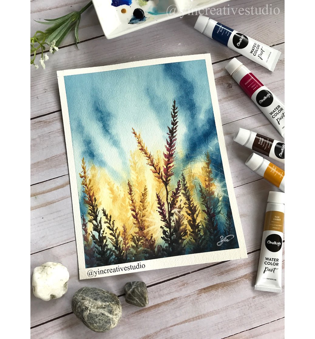 Tree Watercolor Painting 2