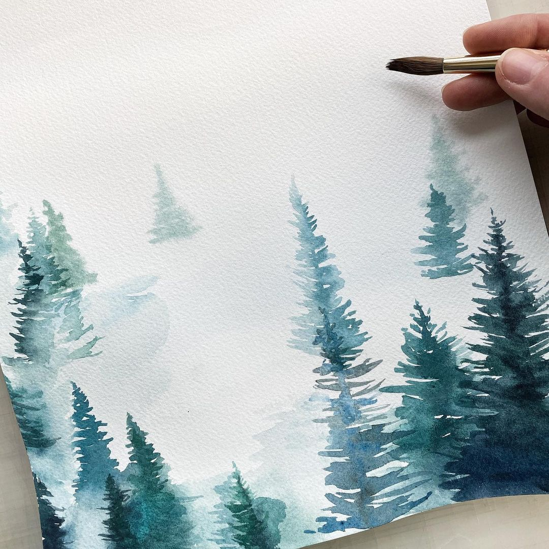 Tree Watercolor Painting 3
