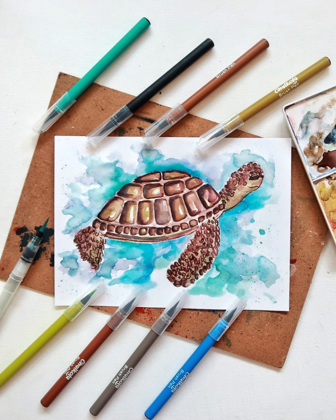 Turtle Watercolor Painting 1