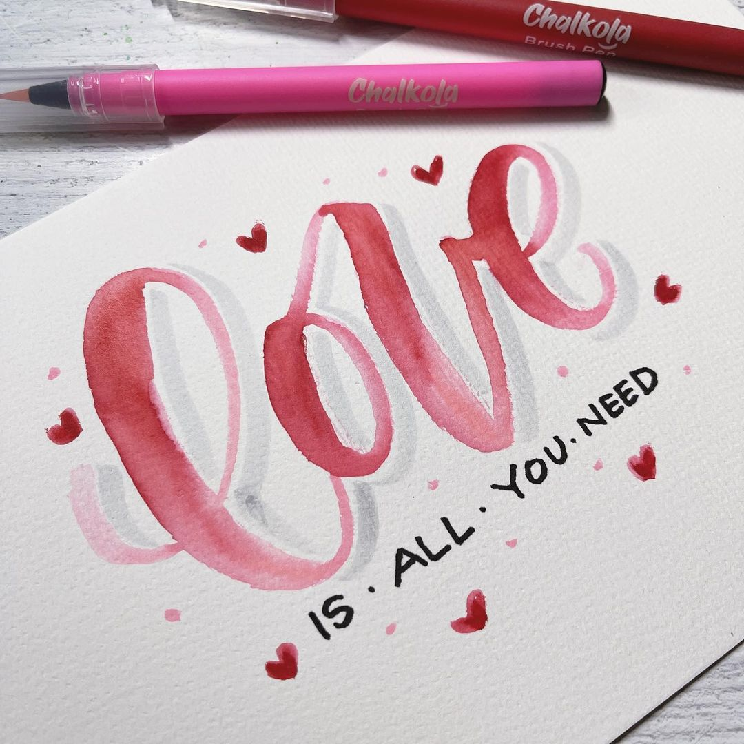 Watercolor Calligraphy 11