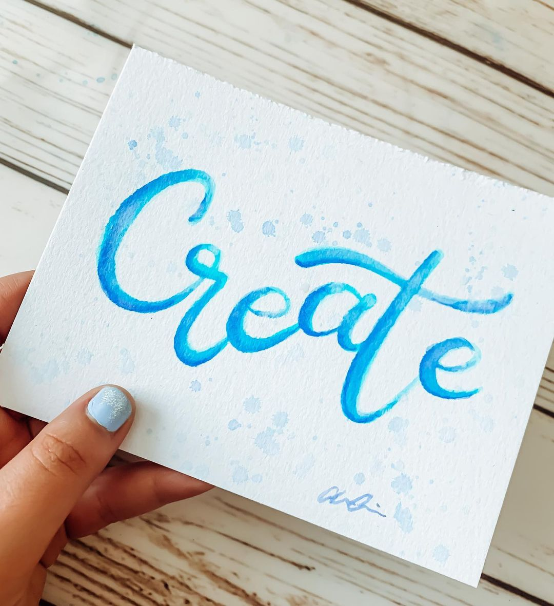 Watercolor Calligraphy 12