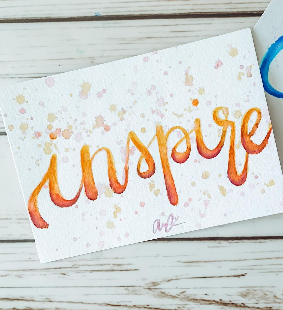 Watercolor Calligraphy 13