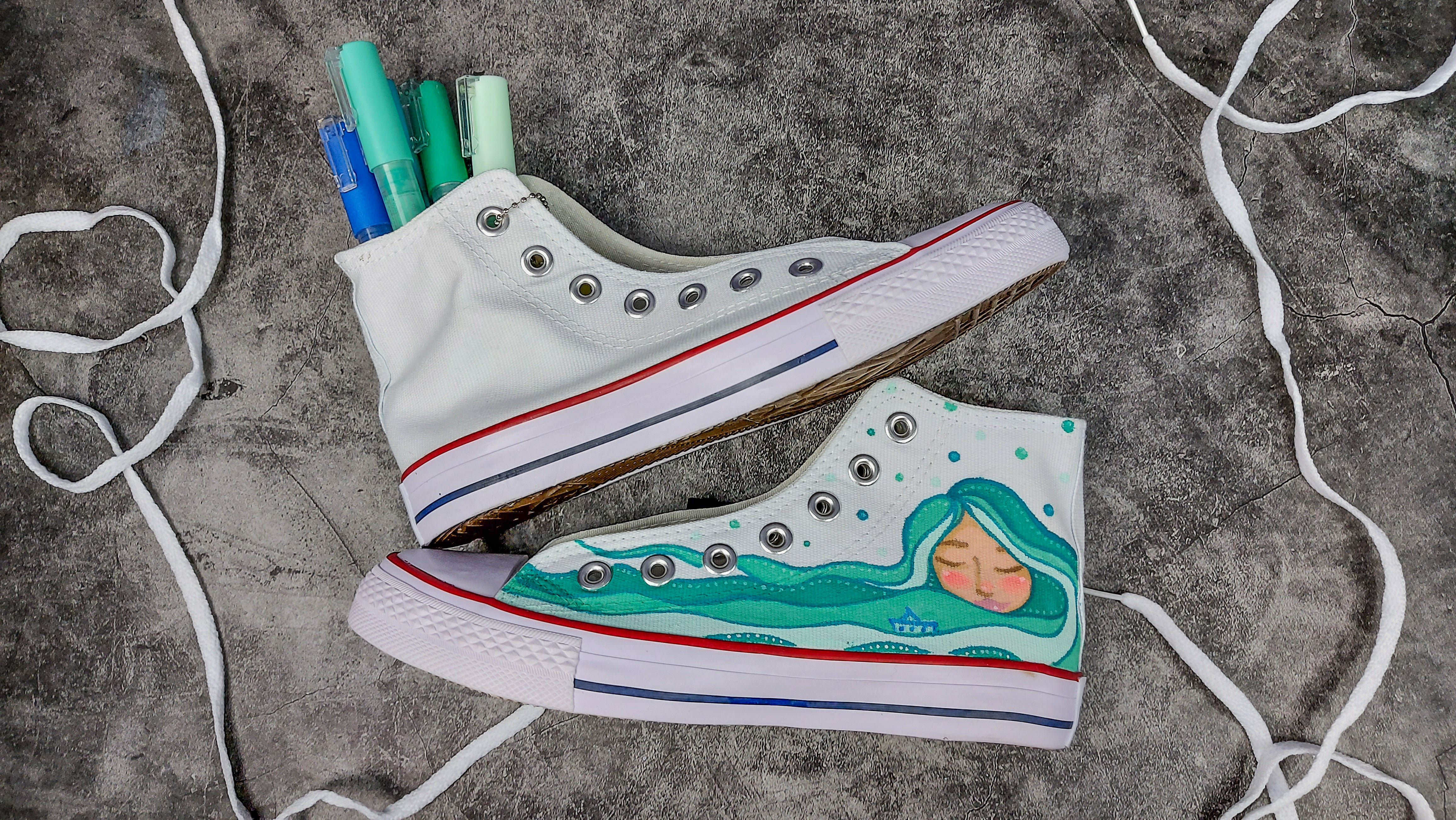 Acrylic Painting on Shoes