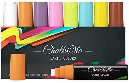 Window Chalk Markers - 15mm Jumbo Nib Neon Colors | Pack of 8 - Chalk markers