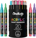 Acrylic Paint Marker Pens - Pack of 20, Fine Tip