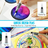 Watercolor Brush Pens | 28 Colors with 15-Sheet Watercolor Pad & 2 Blending Brush