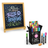 Special Bundle: Pack of 30 Chalk Marker + Magnetic Chalkboard