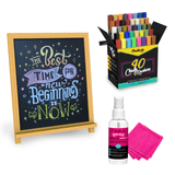 Special Bundle: Liquid Chalk Eraser Kit + 40 Chalk Markers + Chalkboard