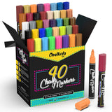Special Bundle: Pack of 40 Chalk Markers + Chalkboard + Eraser Kit - Chalk markers