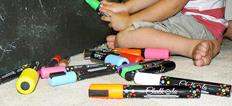 chalk markers earth colors