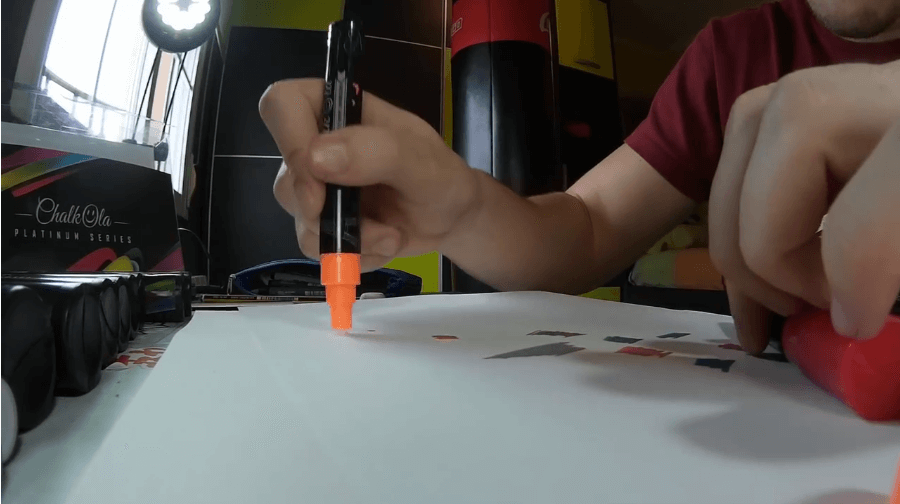 orange Platinum chalk marker