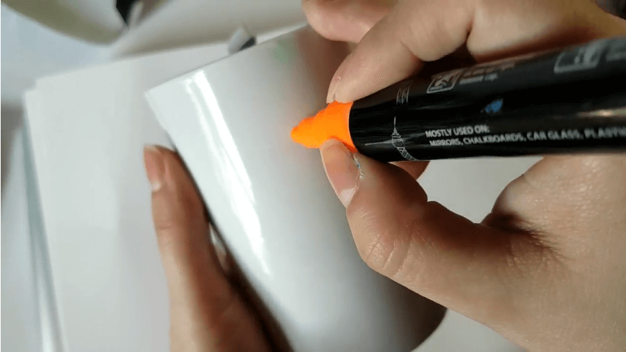 orange chalk marker