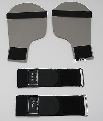 NewGrips Weight Lifting Gloves with Adjustable Wrist Wrap NEW GREY HAND PADS