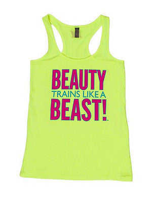NEW Womens Tank Top Workout Clothing Muscle Club Apparel Beauty Train Beast