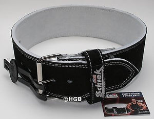 Schiek L6011 Powerlifting Competition Power Belt Suede Leather 1 Prong ALL SIZES