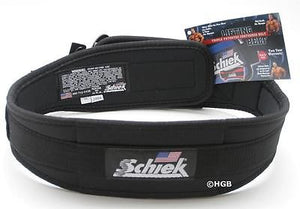 "NEW Schiek Model 2004 Nylon Black 4.75"" Wide Lifting Belt Patented VelcroClosure"