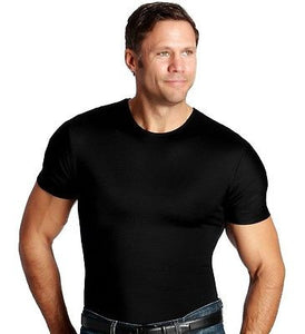 INSTASLIM Compression Mens Slimming Crew Neck Under Shirt All Sizes Colors NEW