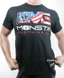 NEW Mens Graphic T MONSTA Bodybuilding Clothing USA Unleash Savage Aggression