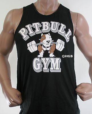 Pitbull Gym Bodybuilding Clothing 100% COTTON Workout Cut Graphic Tank Top Mens