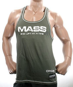NEW Mens Workout MONSTA Bodybuilding Wear MASS Racerback Tank Top Gym Clothing