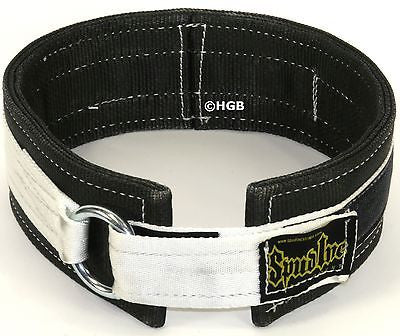 Spud 3 ply fit Deadlift Belt for Power Weight Lifting Cross Training WHITE BLACK
