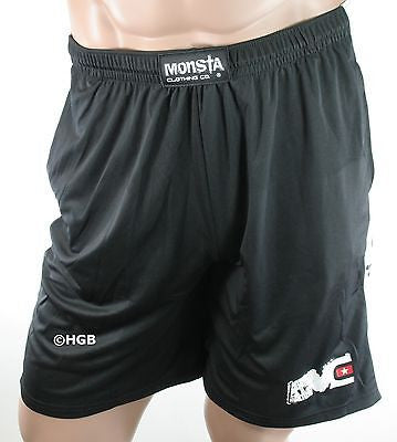 NEW Mens Workout MONSTA Bodybuilding Clothing Dri-Fit Moisture Wick Gym Shorts