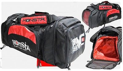 7037218f2138 ... MONSTA Bodybuilding Pro Sport Large Embroidered Gym Duffle Bag Wet Dry  Storage