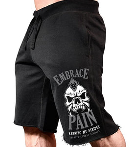 Monsta Clothing Co. Men's Workout Embrace Pain Gym Sweat Shorts