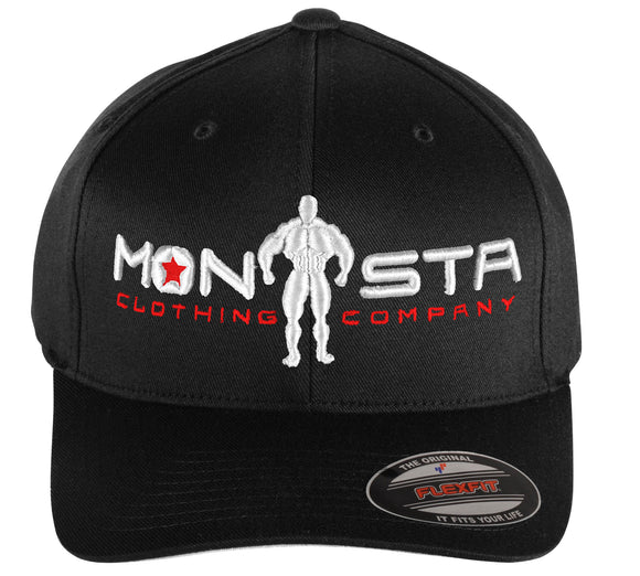 NEW MONSTA Bodybuilding Wear Monsta-Man Hat FlexFit Mid-Profile Embroidered Cap