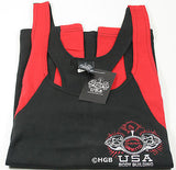 NEW Mens Workout NPC Bodybuilding Wear Fat Strap Tank Top Gym Clothing All Sizes