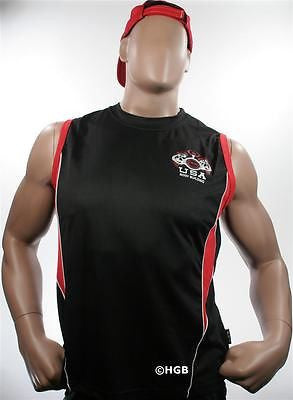 NEW Mens Workout NPC Bodybuilding Wear Polyester Sleeveless Shirt Gym Clothing