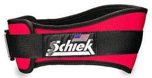 NEW Schiek Model 2006 Nylon Red Weightlifting Belt Patented Velcro closure NWT