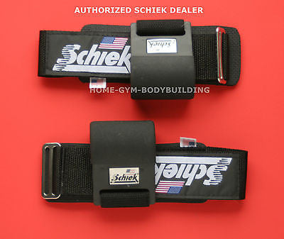 New Schiek 1200PLH Power Lifting Hooks PADDED WRIST  lift heavy weights USA MADE