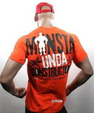 NEW Mens Graphic Tee MONSTA Bodybuilding Wear UNDA CONSTRUCTION T Shirt Clothing