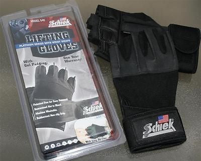 Schiek 540 Platinum Lifting Gloves Wrist Wraps - SMALL - Strength Training NEW