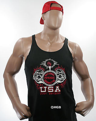 NEW Mens Workout NPC Bodybuilding Wear Stringer Tank Top Gym Clothing ALLCOLORS