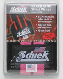 "NEW Schiek Black Line12"" Heavy Duty Weight Lifting Wrist Wraps Womens Pink 1112P"