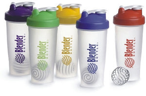 NEW BLENDER BOTTLE Mixer Shaker Cup LARGE 28 oz with 15 FREE protein recipes