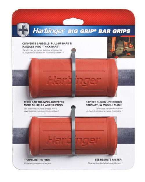 Harbinger Big Grip Bar Grips Thick Fat Bar Training Build Arms and ...