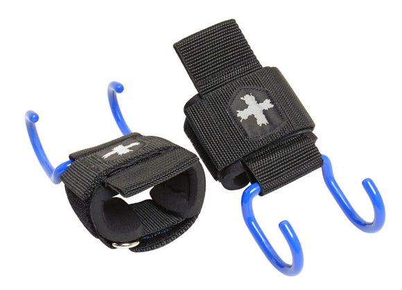Harbinger Weight Lifting Heavy Duty Hooks Padded Wrist Wrap Lift Longer Heavier