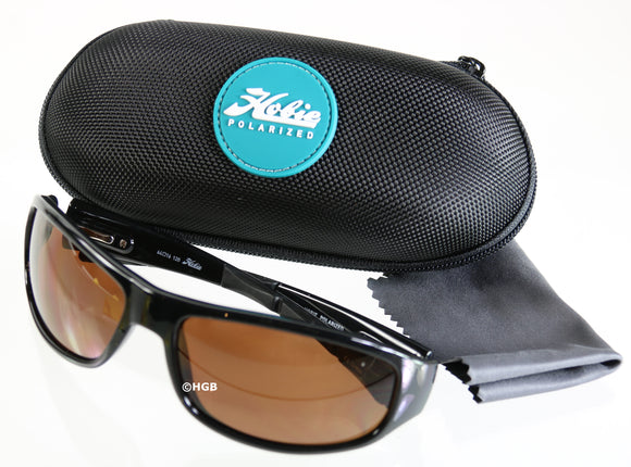 Napa by Hobie Polarized Sunglasses Brown Lens Black Frame 100% UVA UVB UVC NEW