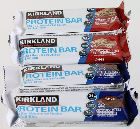Protein Bars Kirkland Signature 4 Count 2 Flavors 21g Protein + Supplement Sample New