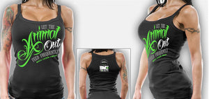 NEW Womens Workout Wear MONSTA Bodybuilding Gym Clothes Animal Out Tank Top