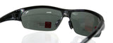 PUMA PU14705A Black Sport Wrap Semi-rimless Polarized Sunglasses GreyLens UNISEX